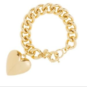 """Gold"" J. Crew bracelet with gold pendant."